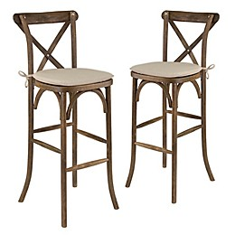 Flash Furniture Wood Bar Stools (Set of 2)