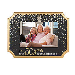 Grasslands Road® It Took 50 Years To Look This Good Clip Frame in Black/Gold