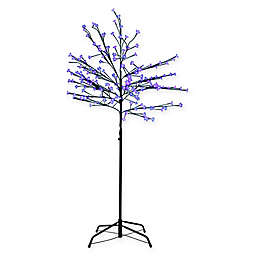 Northlight 8-Foot LED Lighted Japanese Sakura Blossom Flower Tree