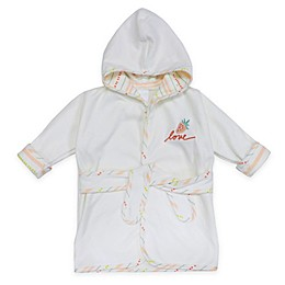 ED Ellen DeGeneres Size 0-3M Berry Love Hooded Bathrobe