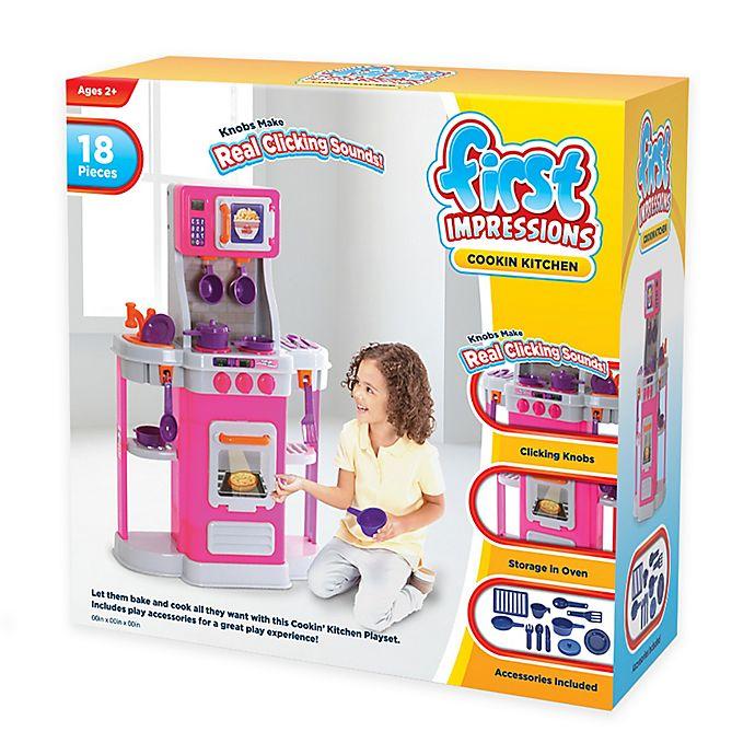 1st Cookin Kitchen 18 Piece Play Set In Pink