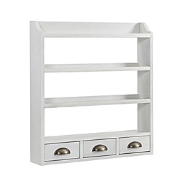 Southern Enterprises Sheldrake Wall-Mount 4-Tier Spice Rack with Drawers