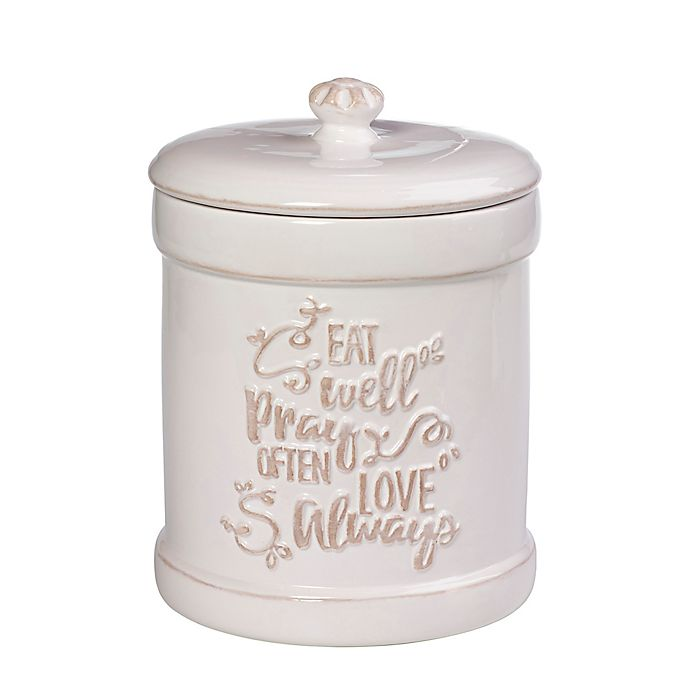 Alternate image 1 for Precious Moments® Eat Well Pray Often Love Always Kitchen Canister
