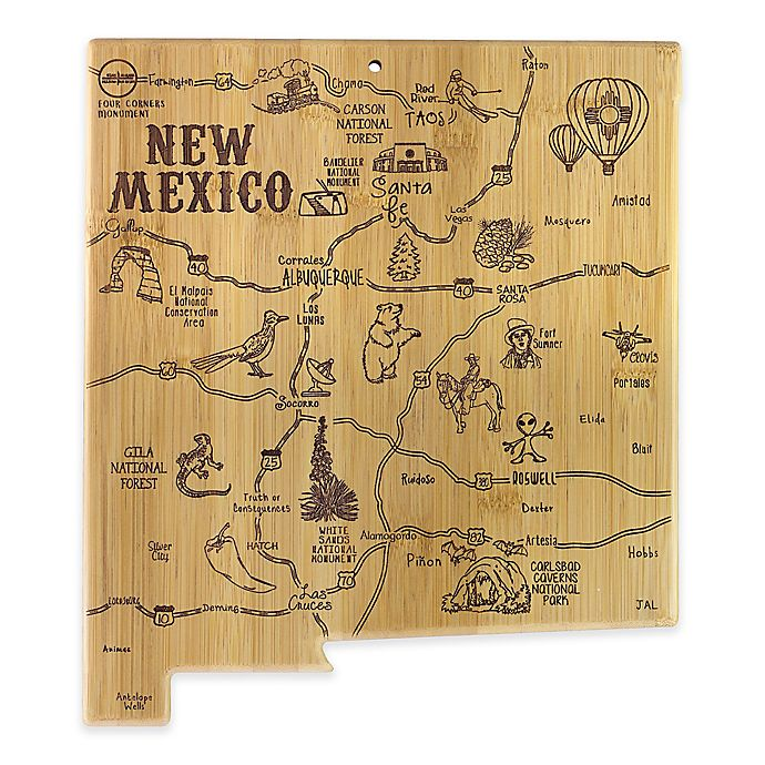 Alternate image 1 for Totally Bamboo® New Mexico Destination Cutting/Serving Board