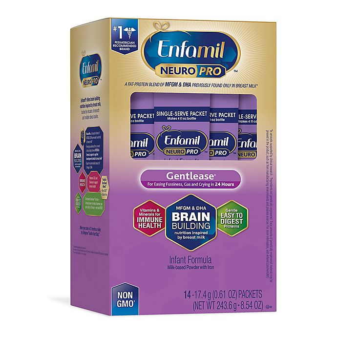 Alternate image 1 for Enfamil™ NeuroPro™ Gentlease® 14-Pack Single Serve Infant Formula Packets