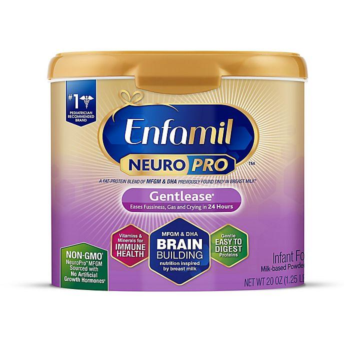 Alternate image 1 for Enfamil™ NeuroPro™ Gentlease® 20 oz. Powder Infant Formula Tub