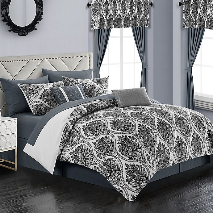 Alternate image 1 for Chic Home Slade 20-Piece King Comforter Set in Grey