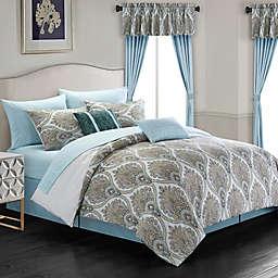 Chic Home Slade 20-Piece Queen Comforter Set in Green