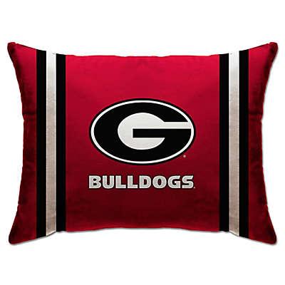 University of Georgia Rectangular Microplush Standard Bed Pillow