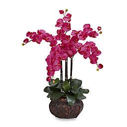 Nearly Natural 31-Inch Phalaenopsis w/ Decorative Vase Silk Flower Arrangement in Beauty