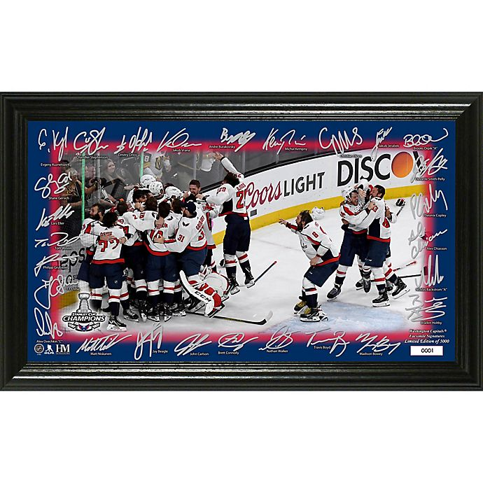 Alternate image 1 for NHL Washington Capitals 2018 Stanley Cup Champions Celebration Signature Rink Photo Frame
