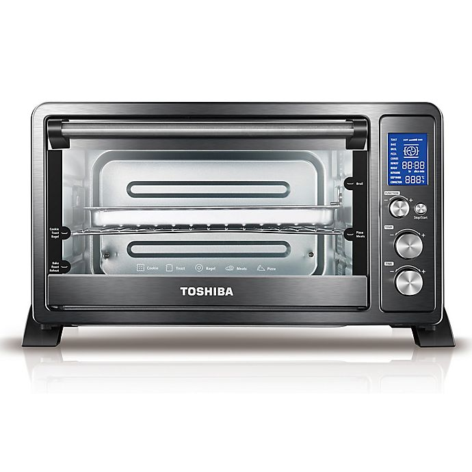 Alternate image 1 for Toshiba® Stainless Steel 6-Slice Digital Convection Toaster Oven