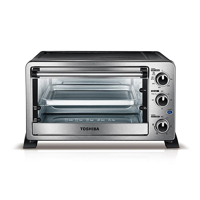 Alternate image 1 for Toshiba® 6-Slice Stainless Steel Convection Toaster Oven
