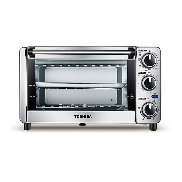 Alternate image 1 for Toshiba® Stainless Steel 4-Slice Toaster Oven