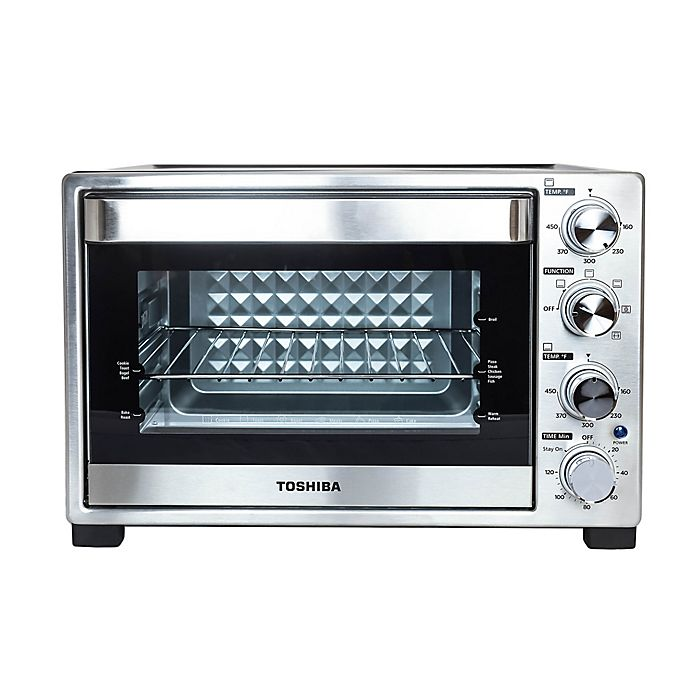 Alternate image 1 for Toshiba® Stainless Steel Convection Toaster Oven