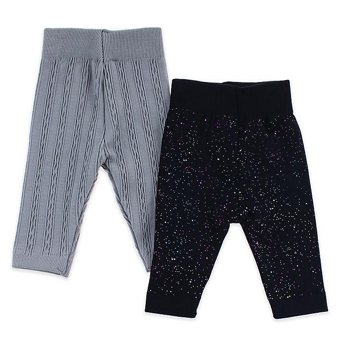Alternate image 1 for Capelli New York 2-Pack Splatter Leggings in Grey