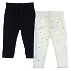 Capelli New York 2-Pack Celestial Mini Stars Leggings in Black