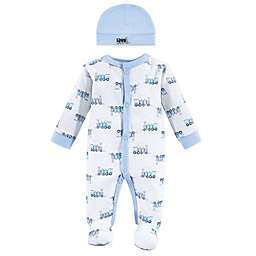 Luvable Friends® Preemie Train Sleep N' Play with Cap in Blue