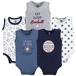 Hudson Baby® 5-Pack Baseball Sleevless Bodysuits