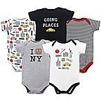 Hudson Baby® Size 6-9M 5-Pack New York City Bodysuits
