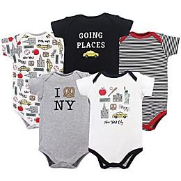 Hudson Baby® 5-Pack New York City Bodysuits