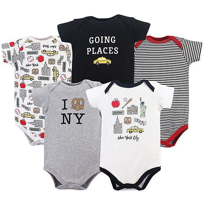 Alternate image 1 for Hudson Baby® 5-Pack New York City Bodysuits
