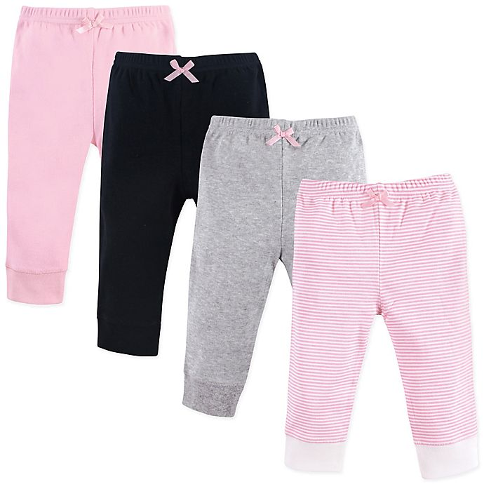 Alternate image 1 for Luvable Friends® 4-Pack Tapered Ankle Pants in Pink