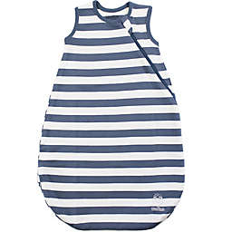 Woolino® Striped Organic Cotton Wearable Blanket in Deep Blue
