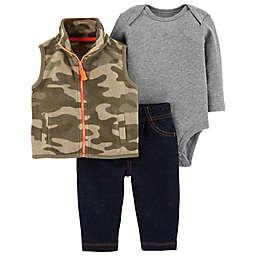 carter's® 3-Piece Camo Vest, Bodysuit, and Pant Set