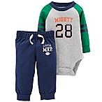 carter's® Newborn 2-Piece Mighty Cute Bodysuit and Pant Set in Grey