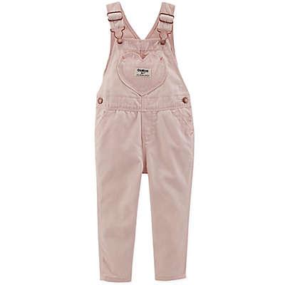 OshKosh B'gosh® Heart Pocket Denim Overalls in Grace Pink