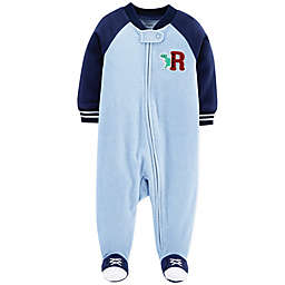 carter's® Dinosaur Fleece Sleep & Play Footie in Blue