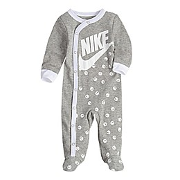 Nike® Smiley Print Footed Coveralls in Grey