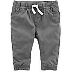 OshKosh B'gosh® Size 6-9M Woven Pull-On Pant in Grey