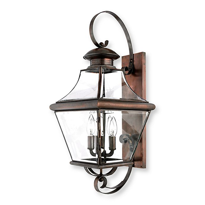 Quoizel Carleton 4-Light Wall-Mounted Outdoor Fixture in ...
