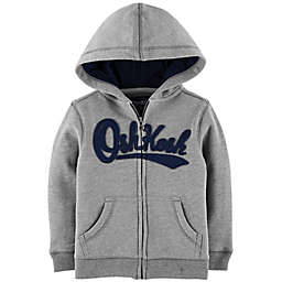 OshKosh B'gosh® Zip-Front Logo Hoodie in Grey