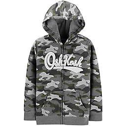 OshKosh B'gosh® Zip-Front Logo Hoodie in Camo