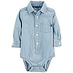 OshKosh B'Gosh® 3-6M Chambray Bodysuit in Blue