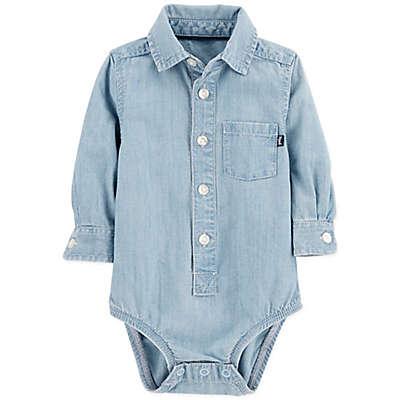 OshKosh B'Gosh® Chambray Bodysuit in Blue