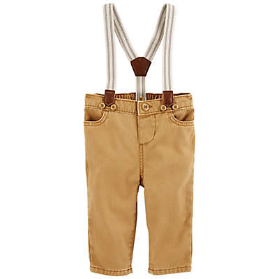OshKosh B'Gosh® Suspender Pants in Khaki