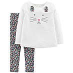 carter's® Size 18M 2-Piece Bunny Face Top and Pant Set in Ivory