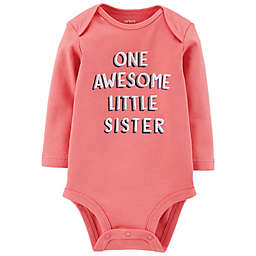 carter's® Awesome Sister Long Sleeve Bodysuit in Pink