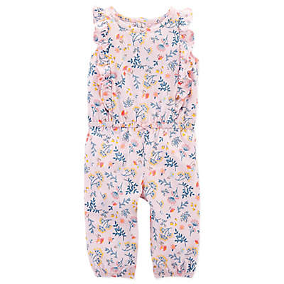 carter's® Floral Ruffle Romper in Pink