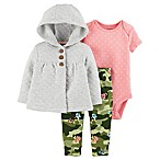 carter's® Newborn 3-Piece Quilted Cardigan, Bodysuit, and Pant Set in Cream