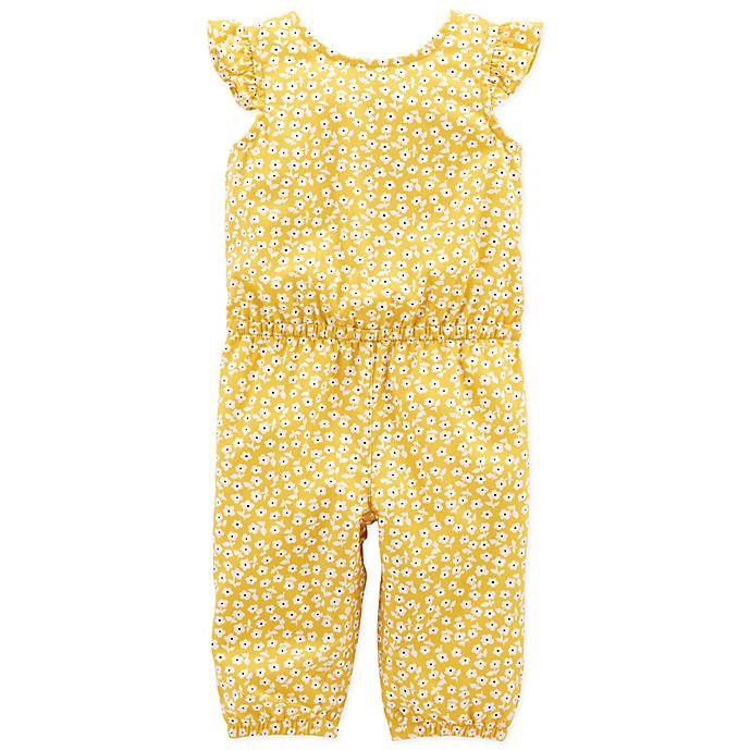 1ceea13f902 carter s® Floral Flutter Sleeve Romper in Yellow