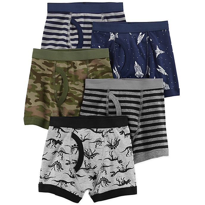 Alternate image 1 for carter's® 5-Pack Cotton Boxer Briefs