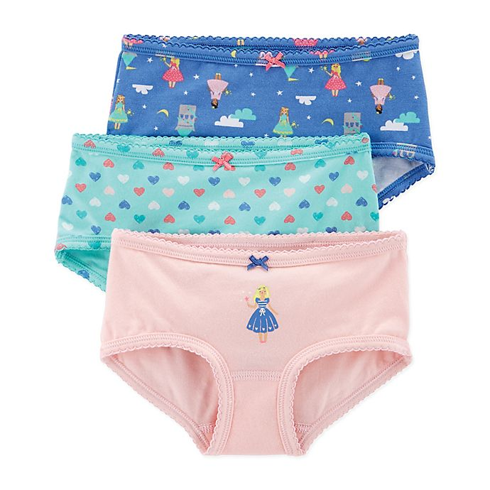 Alternate image 1 for carter's® 3-Pack Fairy Stretch Cotton Underwear