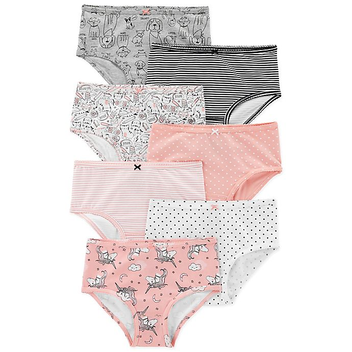 Alternate image 1 for carter's® 7-Pack Animal Cotton Undies