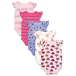 Rosie Pope® 5-Pack Butterfly Short Sleeve Bodysuits