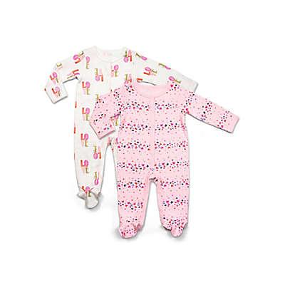 Rosie Pope® 2-Pack Butterfly Long Sleeve Footies